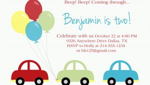 Car themed Birthday Invitations Car Birthday Party Paloma Paper Designs