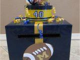 Card Box for Birthday Party Football themed Birthday Card Money Box Custom Made