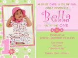 Cards Invitations for Birthdays 1st Birthday Invitations Girl Free Template Baby Girl 39 S