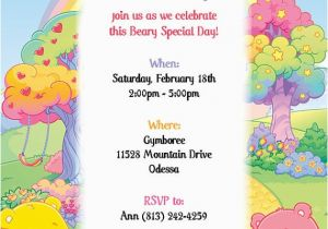 Care Bear Birthday Invitations 53 Best Images About Care Bear Invitations On Pinterest