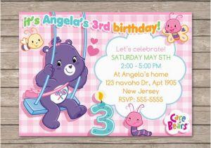 Care Bear Birthday Invitations Berryliciousdesign On Etsy
