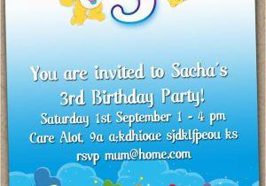 Care Bear Birthday Invitations Care Bear Birthday Invitations Best Party Ideas