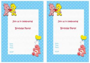 Care Bear Birthday Invitations Care Bears Birthday Invitations Birthday Printable