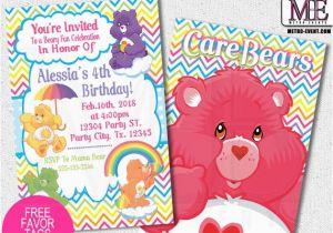 Care Bear Birthday Invitations Care Bears Birthday Invitations by Metro Designs Graphic