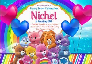 Care Bear Birthday Invitations Care Bears Invitations Care Bears Birthday Invitations