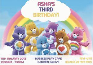 Care Bear Birthday Invitations Custom Photo Invitations Care Bears Birthday by asapinvites