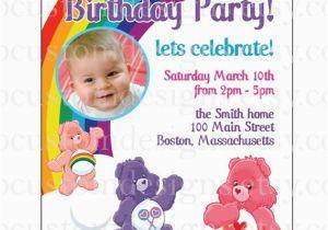 Care Bear Birthday Invitations It 39 S Celine Ameliah Mccray 39 S 1st Birthday Come Celebrate