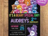Care Bears Birthday Party Invitations Care Bear Birthday Party Invitation Free Thank You Included