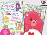 Care Bears Birthday Party Invitations Care Bears Birthday Invitations by Metro Designs Graphic