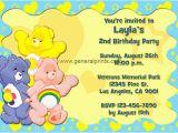 Care Bears Birthday Party Invitations Care Bears Birthday Invitations General Prints