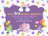 Care Bears Birthday Party Invitations Custom Care Bears Birthday Invitations 5 X by