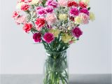 Carnation Birthday Flowers Spray Cascade Spray Carnations Bouquet Bunches Co Uk