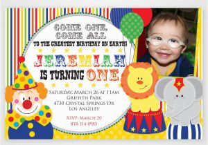 Carnival 1st Birthday Invitations Circus Best Party Ideas
