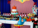 Carnival Decorations for Birthday Party Kara 39 S Party Ideas Circus themed 1st Birthday Party Kara