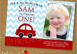 Cars 1st Birthday Invitations Best 11 Red Car Themed Inspiration Images On
