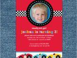 Cars 1st Birthday Invitations Race Car Birthday Invitation Printable Boy 1st Birthday