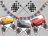 Cars 3 Happy Birthday Banner Cars 3 Birthday Banner Printable Digital Cars Birthday