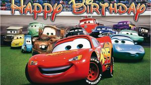 Cars 3 Happy Birthday Banner Disney Cars Birthday Banner