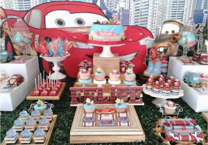 Cars Decorations For Birthday Parties Disney Party Ideas Themed