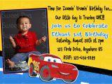 Cars First Birthday Invitations Disney Car 39 S 1st Birthday Invitation or Thank by