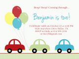 Cars themed Birthday Invitations Car Birthday Party Paloma Paper Designs