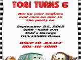 Cars themed Birthday Invitations Disney Cars Birthday Invitation Free Template Time to