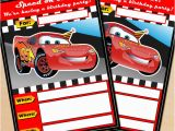 Cars themed Birthday Invitations Free Printable Disney Cars Lightning Mcqueen Birthday