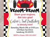 Cars themed Birthday Invitations Printable Race Car Birthday Party Invitation