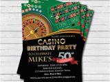 Casino themed Birthday Invitations Casino 50th Birthday Invitation Adult Man Birthday Surprise