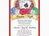 Casino themed Birthday Invitations Casino Birthday Invitations Paperstyle