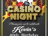 Casino themed Birthday Invitations Casino Invitation Casino Party Invitations Casino