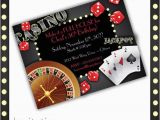 Casino themed Birthday Invitations Casino Invitations Casino Night Casino Birthday