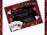 Casino themed Birthday Invitations Casino Party Invitations Casino Blush by