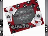 Casino themed Birthday Invitations Items Similar to Casino Party Invitations Gamble Love