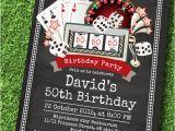 Casino themed Birthday Invitations Poker Playing Card Birthday Invitation Vintage Casino theme