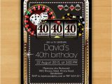 Casino themed Birthday Invitations Poker Playing Card Gold Birthday From Miprincess On Etsy