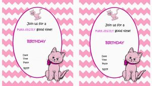 Cat Birthday Invitations Printables Cat Lovers Birthday Invitations Birthday Printable
