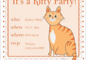 Cat Birthday Invitations Printables Kitty Invitation