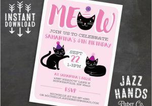 Cat Birthday Invitations Printables Kitty Invitation Template