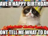 Cat Birthday Meme Generator Have A Happy Birthday Grumpy Cat Birthday Meme On