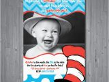 Cat In the Hat 1st Birthday Invitations Dr Seuss Birthday Invitation First Birthday by Abbyreesedesign