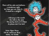 Cat In the Hat 1st Birthday Invitations Novel Concept Designs Thing 1 and Thing 2 Cat In the