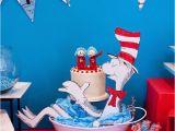 Cat In the Hat Birthday Decorations Kara 39 S Party Ideas Cat In the Hat themed Birthday Party
