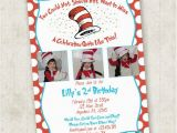 Cat In the Hat Birthday Party Invitations Cat In the Hat Birthday Invitation