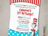 Cat In the Hat Birthday Party Invitations Cat In the Hat Birthday Party Invitation by