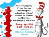 Cat In the Hat Birthday Party Invitations Dr Seuss Invitation Template Best Template Collection