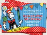 Cat In the Hat Birthday Party Invitations Items Similar to Cat In the Hat Birthday Party Invitation