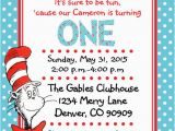 Cat In the Hat Birthday Party Invitations Printable Pdf Dr Seuss Invitations Cat In the Hat Birthday