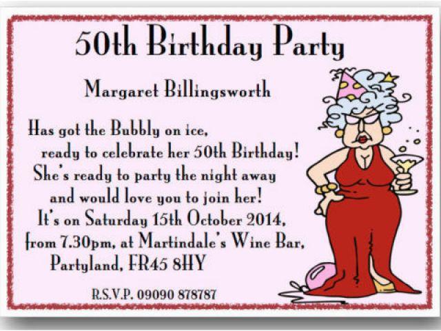 Catchy Birthday Invitation Phrases Funny 50th Party