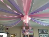 Ceiling Decorations for Birthday Party Ceiling Decoration Using Plastic Tablecloths Streamers